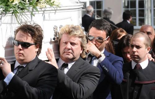 Jack Tweed Carries Jade's Coffin